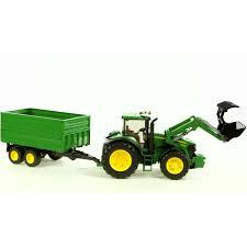 bruder farm toys bruder 03055 john deere tractor and trailer indoor toys steam