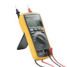 fluke f17b digital multimeter cat iii 600v voltmeter ammeter meter