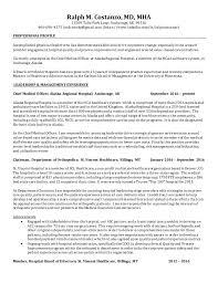 Areas Of Improvement In Resume Ralph M Costanzo Md Arh Resume