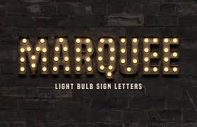 how to create a marquee light bulb sign with photoshop u2014 medialoot