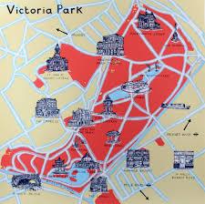 Lake Victoria Map Victoria Park Map Print Club London
