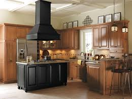 kitchen island oak light oak cabinets with black kitchen island kitchen other by