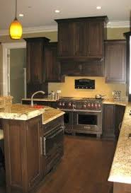 what color wood floors go with espresso cabinets like the cabinets not the paint yellow kitchen walls