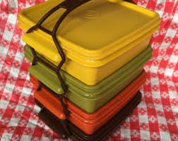 Vintage Food Storage Containers - 1970s tupperware etsy