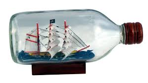 pirate ship in a bottle home kitchen