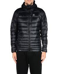 haglà fs essens iii down hood men jacket black coats and jackets