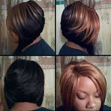 layered bob sew in hairstyles for black women for older women layered bob honey blonde colored for black women stylish hair
