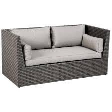 canapé résine tressée canapé 2 places en aluminium et résine tressée dim l 172 x p