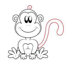 monkey cartoon drawings free download clip art free clip art