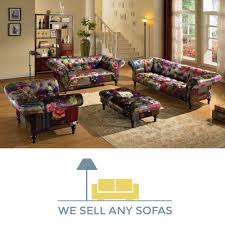 2 Seater Fabric Chesterfield Sofa by We Sell Any Sofas Crushed Velvet Leather Fabric U0026 Corner