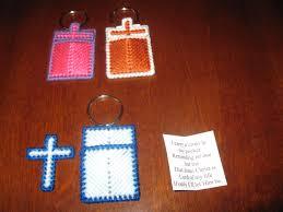 pocket crosses canvas cross in my pocket keychain design 3