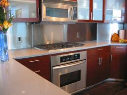 Pictures Of Stainless Steel Backsplashes by Modern Kitchen With Stainless Steel Backsplash Modern Luxurious