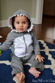 Infant Shark Halloween Costume Easy Inexpensive Diy Shark Costume Living Cheap