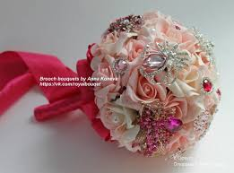 wedding flowers for bridesmaids brooch bouquet pink fuchsia bridal brooch bouquet wedding bridal