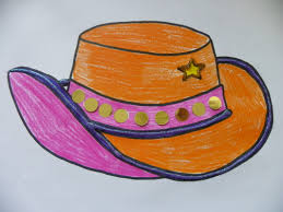 cowgirl hat colouring page craft u0027n u0027 home