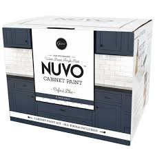 best paint for kitchen cabinets walmart nuvo oxford blue cabinet makeover paint kit