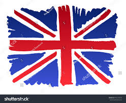isolated marker handdrawn brittish flag vector stock vector