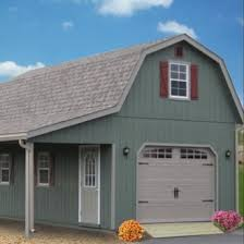 gambrel garage 2 story single car garage ags structures