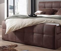 Schlafzimmer Bett Mit Matratze Bett Amarillo Braun 180x200 Cm Mit Matratze Und Topper Boxspringbett