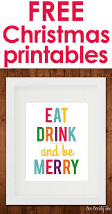 eat drink and be merry printables free holidays and craft