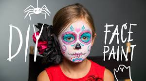 diy face paint sugar skull makeup for halloween youtube