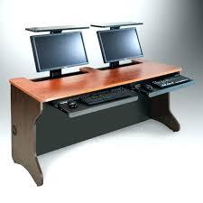 Computer Desk For Two Monitors Two Level Desk Kresofineart