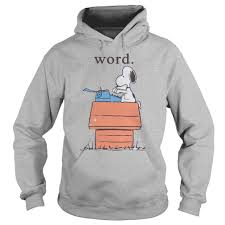 snoopy word shirt hoodie sweater