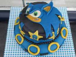 sonic birthday cake for 7 year old cakecentral com
