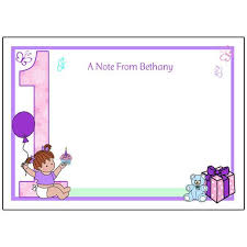 baby s 1st birthday thank you note cards baby mandys moon