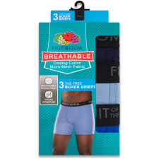 fruit of the loom big s breathable assorted color boxer briefs