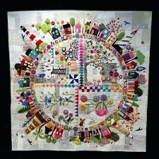 quilt pattern round and round hand applique quilt patterns just finished round the garden by wendy