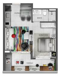 Global House Plans 3 Distinctly Themed Apartments Under 800 Square Feet 75 Square