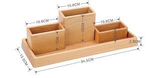 Wooden Desk Accessories Wooden Desk Organizer Home Office Accessories Set 4 Set