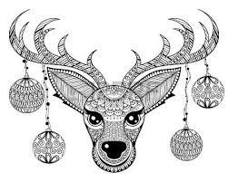 ethnic ornamental patterned deer s in floral