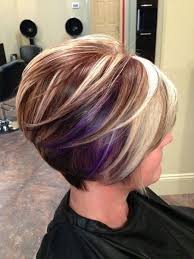 graduated short bob hairstyle pictures short graduated bob hairstyle with purple for medium to thick hair