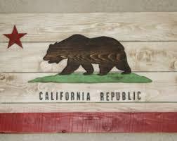 wooden california wall california flag printed on rustic wood