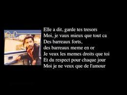 Le Meme Que Moi Lyrics - cheb khaled aicha remastered with lyrics high quality youtube