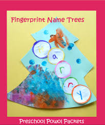 fingerprint name tree preschool christmas craft preschool powol