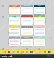goals planner template monthly goals calendar template year 2016 stock vector 346323068 monthly goals calendar template for year 2016 colorful ruled months organizer diary planner
