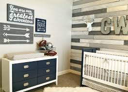 accent wood wall how to fake a reclaimed wood accent wall faux navy and gray nursery with wood accent wall