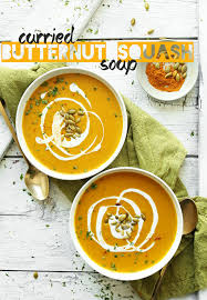 Butternut Squash And White Bean Soup Curried Butternut Squash Soup Minimalist Baker Recipes