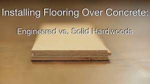 hardwood floors concrete