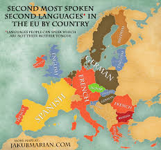 French Language Countries - map of the most spoken foreign languages in the eu by country
