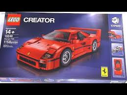 lego f40 built in 60 seconds lego creator f40 set 10248