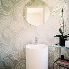 gray paisley bathroom wallpaper design ideas