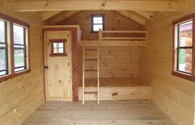 Cabin Bunk Bed Cabin Plans Loft Floor Plan Tiny Small Cabins With Lofts Style