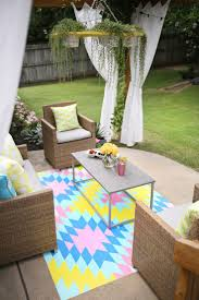 Diy Outdoor Rug With Fabric Outdoor Rug Enchanting Square Colorful Cotton Fabric Target