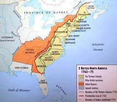 america map before and after and indian war after 1763 although the claimed a large portion of