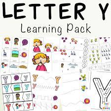 letter y worksheets for preschool kindergarten fun with mama