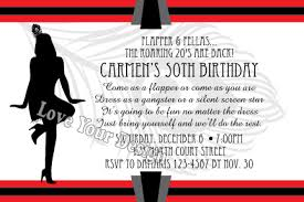 1920s invitation perfect for a dirty 30s birthday party 1920s